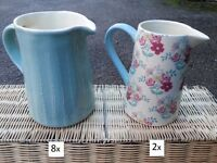 Shabby chic, Rustic, Vintage Jugs (13 in total)