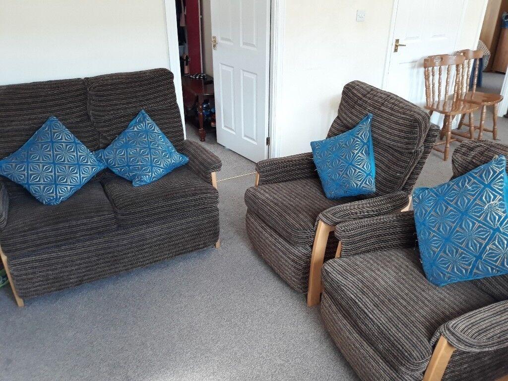 Chenille armchair 2+1+1 Sofa set | in Milton Keynes ...