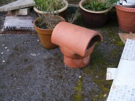 Clay terracotta chimney cowl, used for only a few weeks. Perfect condition.