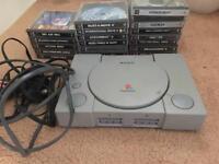 Playstation 1 original bundle with 20 games, retro Sony console ps1
