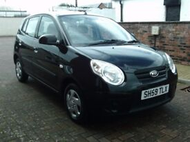 2009 59 KIA PICANTO 1.0 5 DOO R ** ONLY £30 PER YEAR ROAD TAX ** 12 MONTH MOT ** LOW INSURANCE **