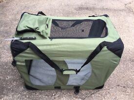 Unused dog canvas carry case