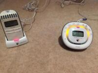 BT baby monitor (with lullabies) and parent unit - fully working and great condition