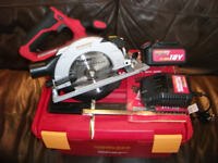 NEW! Professional Cordless 18v Workzone Titanium Li Ion Circular Saw, 3.0ah Battery, Charger + Case!