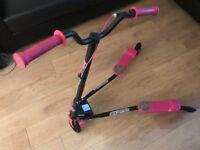 3 wheel Speeder Scooter black/pink VGC