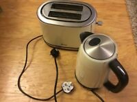 SWAN KETTLE AND MATCHING TOASTER