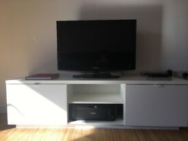 TV BENCH, IKEA BYAS, high-gloss white. Brand new!