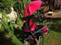 iCandy Cherry travel system (carrycot & stroller & raincovers)