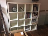 White shelving unit for collection on Wednesday 25 or Thursday 26 April, East London