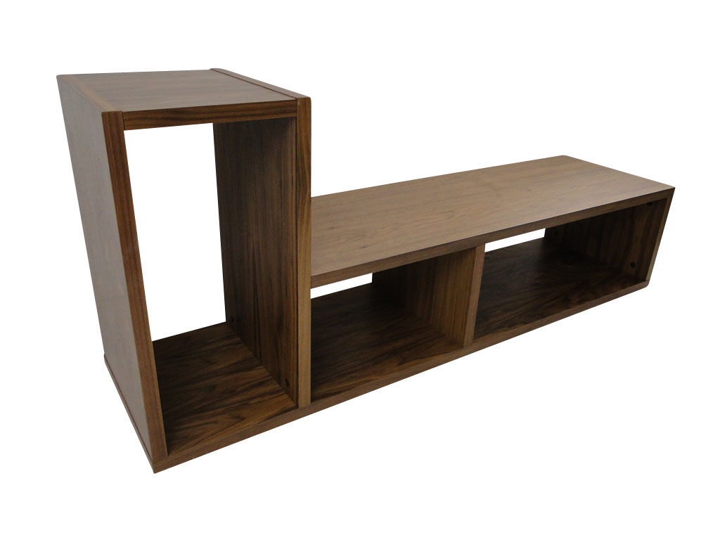temahome domino regal b cherregal raumteiler holz braun nussbaum neu eur 199 00 picclick de. Black Bedroom Furniture Sets. Home Design Ideas