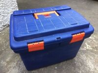 Large tool box with storage compartments