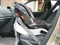 Car seat (Graco junior) backward facing.