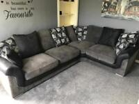 Corner couch— 2 mountain bikes— weight bench, bar & weight & cross trainer for sale