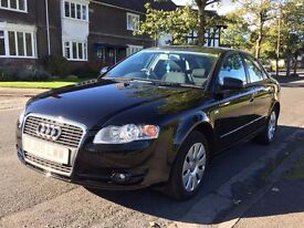 2005 Audi A4 2.0 TFSI petrol- full history - manual in black - includes roof bars - great condition