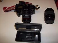 Canon EOS FILM camera and lenses