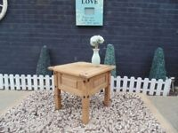 CORONA PINE COFFEE TABLE VERY SOLID AND IN VERY GOOD CONDITION 59/59/54 cm £25