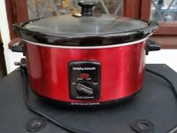 Morphy Richard Red Electric Slow Cooker