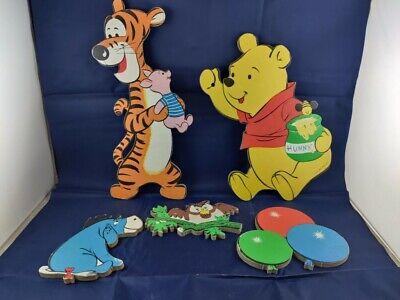 Vintage Walt Disney wall pin-ups Pressboard Winnie The Pooh w/ box