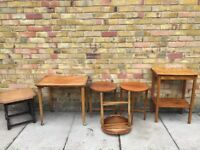 Vintage / antique furnitue fold up tables £25