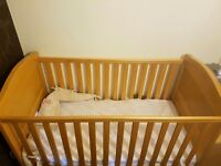 Excellent condition baby cot for sale. It wasn't use too much as my baby won't sleep much on it