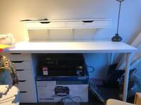 Work desk with a add on unit