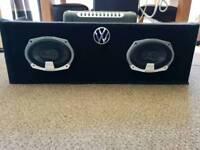 Speaker set plus amplifier 400 watt