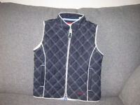 joules, child's navy and cream gilet.