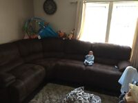 Left or right corner sofa with end recliners