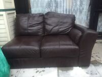 Genuine leather sofa - must go this weekend!