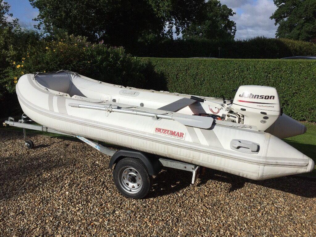 Johnson 15hp Outboard Inflatable Sib Rib Boat