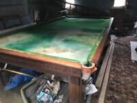 Full size slate snooker table