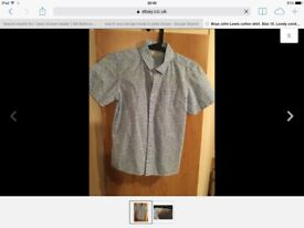 Boys shirt by John Lewis. Age 10. Nice condition.