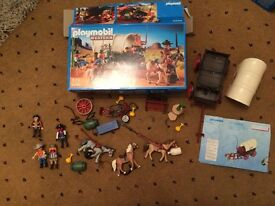 Playmobil 5248 Covered Wagon, Western Set in as new condition