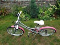 girls pendleton pink and grey bike aged up to 8