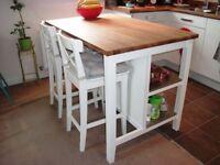 Stenstorp IKEA kitchen island (white)