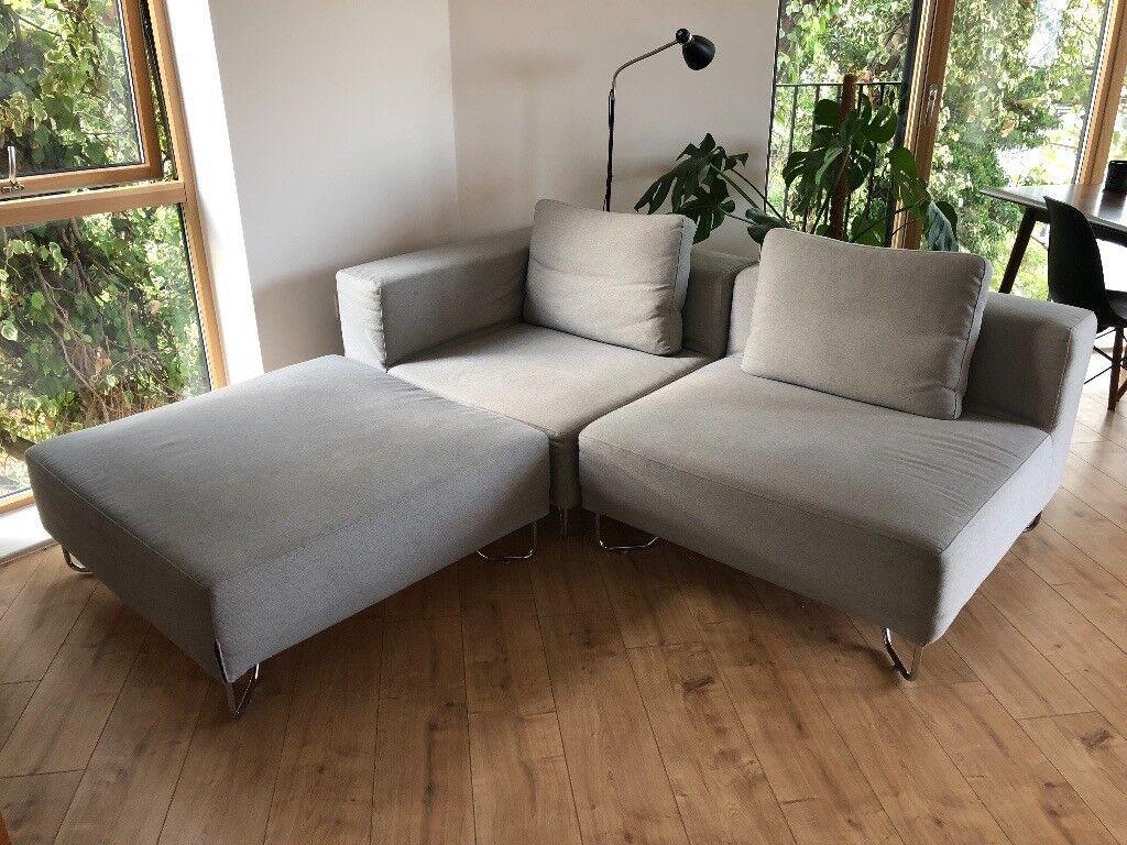 Outstanding Muji Unit Sofa Light Grey 3 Parts Corner Single Foot Stall In Hackney London Gumtree Evergreenethics Interior Chair Design Evergreenethicsorg