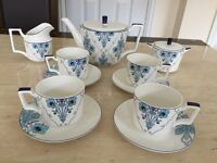 Vintage Fine Bone China Tea and Coffee Set 11 Pieces