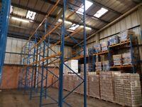 Planned Storage M Series Pallet Racking System 5 bay run