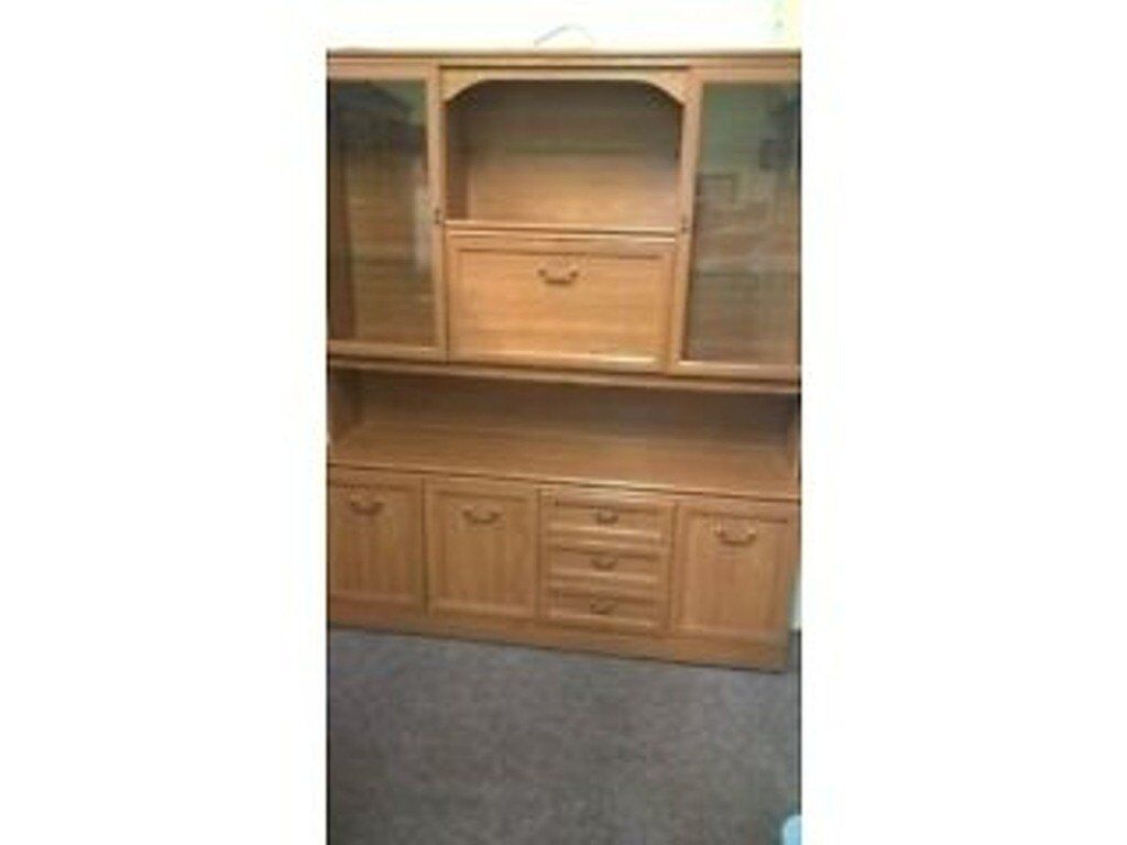 Display cabinet, storage cupboard and drawers delivery available