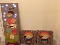 Mamas and papas timbuktales girl nursery bundle