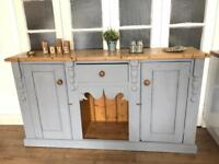 Chunky pine Sideboard Free Delivery Ldn Antique Chest of drawers Tv stand