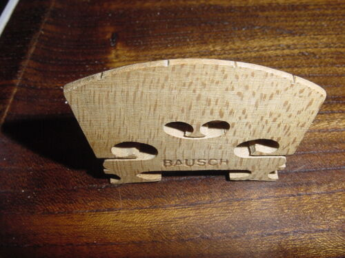 VINTAGE CURED BAUSCH  VIOLIN BRIDGE   4/4