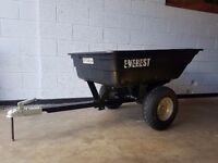 Quad ATV Tipping Trailer 300Kg Capacity, WITH 50mm TOW HITCH & BIG WHEELS **NEW & BOXED** Equestrium