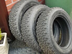 3 x 9mm Dunlop SP Sport tyres for rally use