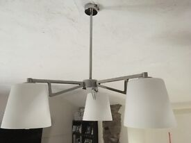 Two modern ceiling lamps