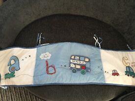 Cot bumper set for little boy (4piece)