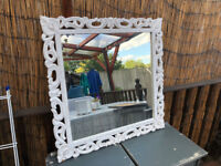 Beautiful large Mirror and Wooden Frame (White) in perfect condition £30