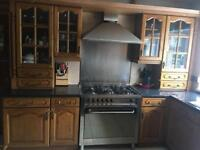 Complete Kitchen Units with Cooker Sink & Fridge