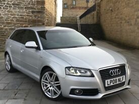 ✅ AUDI A3 S LINE TDI FACE LIFT + LOADED + XENONS + REAR LED's + LEATHERS (BLACK EDITION / GOLF GTD)