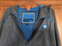 Superdry Sport Lightweight Waterproof Jacket Size Large in Grey